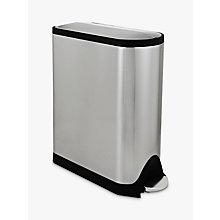 Buy Simplehuman Recycling Butterfly Bin, Stainless Steel, 40L Online at johnlewis.com