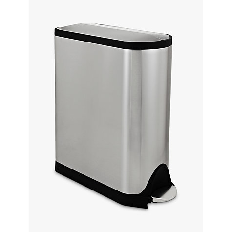 Buy simplehuman Butterfly Recycler, Stainless Steel, 40L Online at johnlewis.com