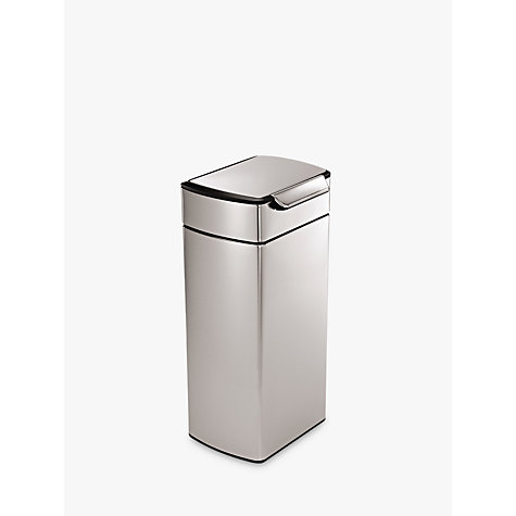 Buy simplehuman Rectangular Touch Bar Bin, 30L Online at johnlewis.com