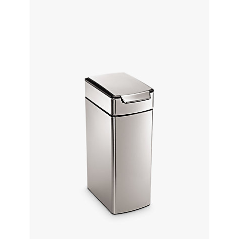 Buy simplehuman Slim Rectangular Touch Bar Bin, 40L Online at johnlewis.com