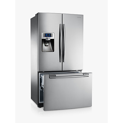 Buy Samsung RFG23UERS 3-Door Fridge Freezer, Stainless Steel Online at johnlewis.com