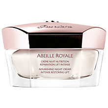 Buy Guerlain Abeille Royale, Crème Nuit Nutrition, Rèparation Lift Intense Pot, 50ml Online at johnlewis.com