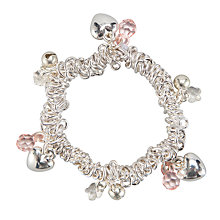Buy John Lewis Girl Heart and Bell Charm Bracelet Online at johnlewis.com