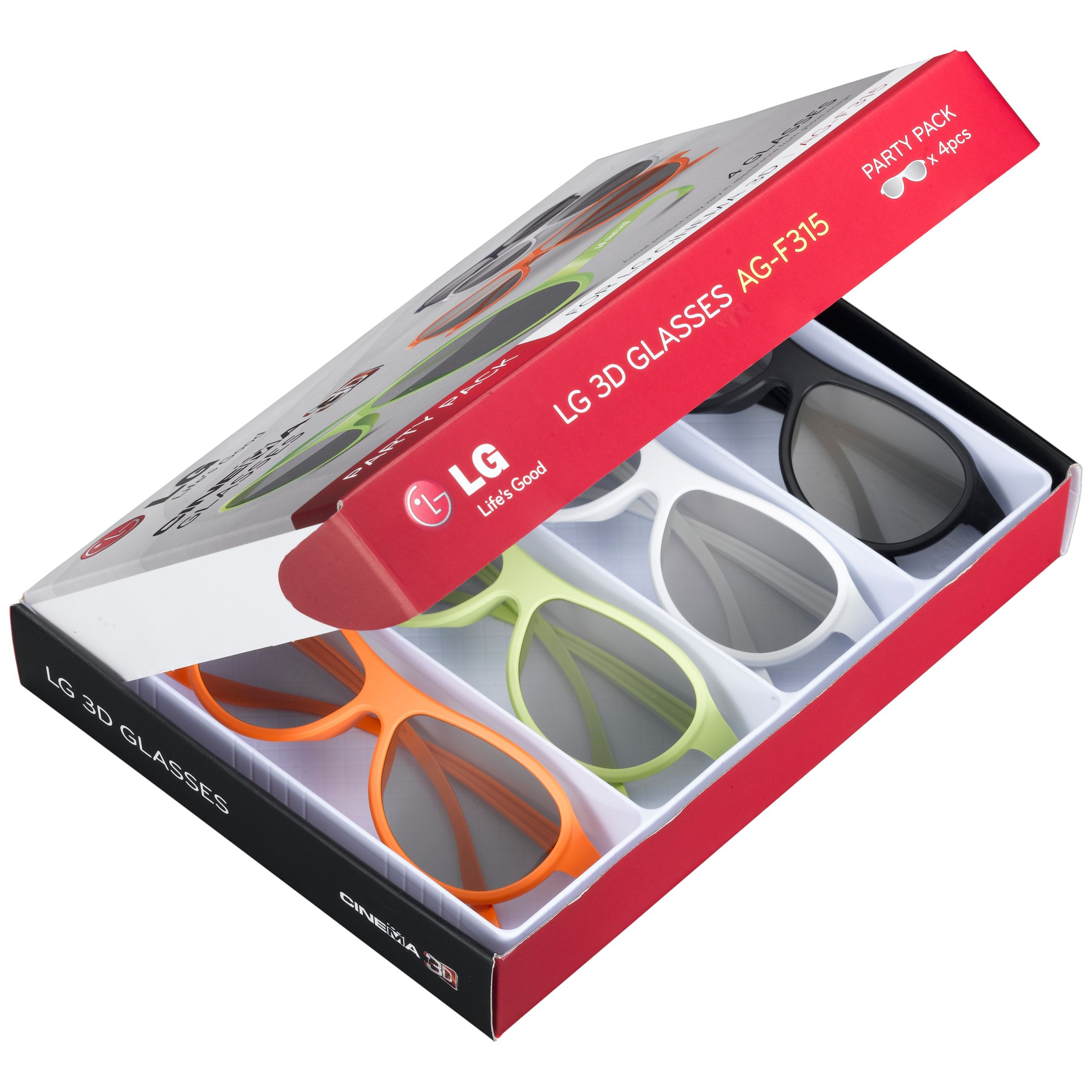 LG AG F315 3D Glasses Four Pairs