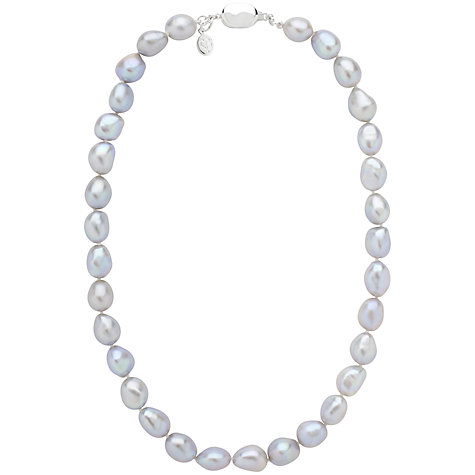 Buy Claudia Bradby Molten Rebirth Pearl Necklace, Pale Blue Online at johnlewis.com