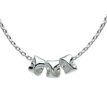 Buy Kit Heath Revolution Triple Twist Pendant Necklace, Silver Online at johnlewis.com