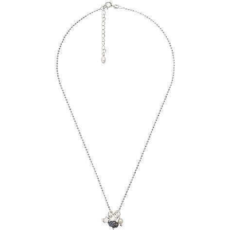 Buy Claudia Bradby Labradorite Pearl Pendant Chain Necklace, Silver Online at johnlewis.com