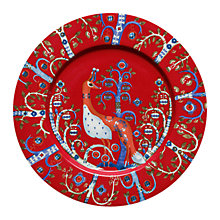 Buy Iittala Red Taika Flat Plate, Dia.22cm, Red Online at johnlewis.com