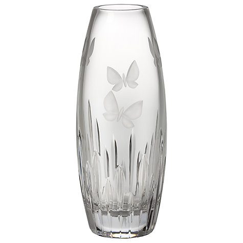 "Buy Waterford Crystal Butterfly Barrel Vase, 11"" Online at johnlewis.com"