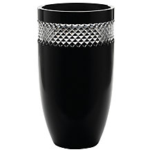 Buy Waterford Crystal John Rocha Black Cut Barrel Vase Online at johnlewis.com