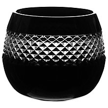 Buy Waterford Crystal John Rocha Black Cut Votive Online at johnlewis.com