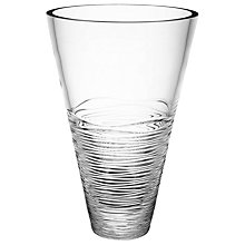 Buy Jasper Conran for Waterford Crystal Strata Angled Flared Vase Online at johnlewis.com