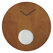 Buy Diamantini & Domeniconi Nature Pendolo Clock, Dia.50cm, Wood Online at johnlewis.com