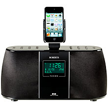 Buy ROBERTS FUSION IS DAB/FM iPod Dock Radio, Black Online at johnlewis.com