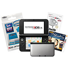 Buy Nintendo 3DS XL, Silver with New Art Academy Game, Adapter & Stylus Pack Online at johnlewis.com