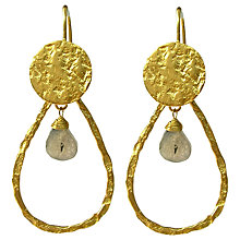 Buy Azuni Semi Precious Teardrop Stone and Disc Drop Earrings Online at johnlewis.com