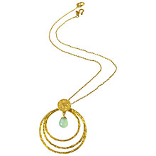 Buy Azuni 3 Hoop and Semi Precious Stone Pendant Necklace Online at johnlewis.com