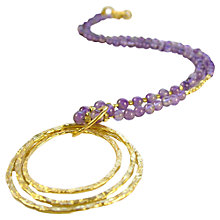 Buy Azuni Triple Hoop Amethyst Athena Pendant Necklace, Amethyst Online at johnlewis.com