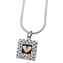 Buy Linda Macdonald Spotty Framed Heart Pendant Necklace, Silver/Gold Online at johnlewis.com