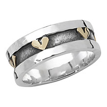Buy Linda Macdonald Gold Hearts Ring, Silver/Gold Online at johnlewis.com