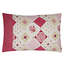 Buy Kirstie Allsopp Lottie Standard Pillowcases, Pair, Raspberry Online at johnlewis.com