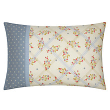 Buy Kirstie Allsopp Claribel Standard Pillowcases, Pair, Blue/White Online at johnlewis.com