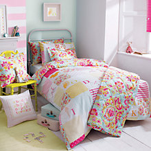 Buy Kirstie Allsopp Alphabet Children's Single Duvet Cover Set, Multi Online at johnlewis.com