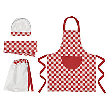 Buy Jme Apprentice Chefs Outfit, Red and White Online at johnlewis.com