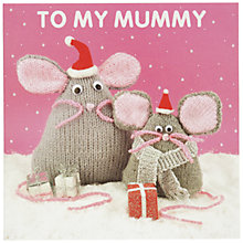 Buy Mint Mice Mummy Christmas Card Online at johnlewis.com