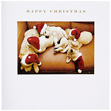 Buy Susan O'Hanlon Santa Puppies Christmas Card Online at johnlewis.com