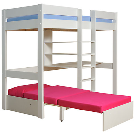 Buy Stompa Uno Plus High Sleeper with Chair Bed and Desk Online at johnlewis.com