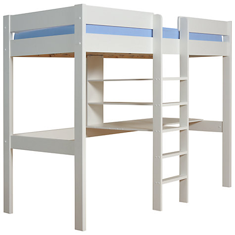 Buy Stompa Uno Plus High Sleeper Bedstead and Desk, White Online at johnlewis.com