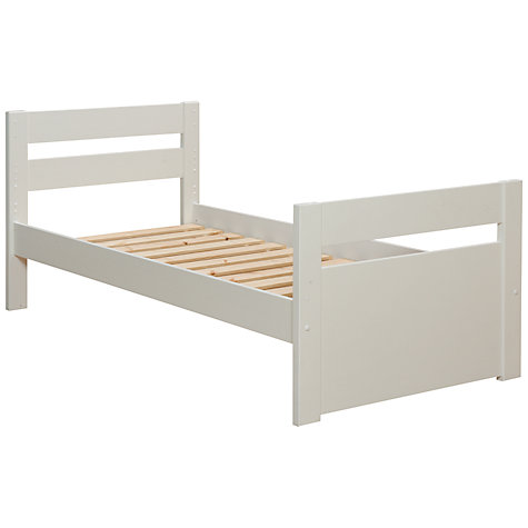 Buy Stompa Uno Plus Bedstead, White, Single Online at johnlewis.com