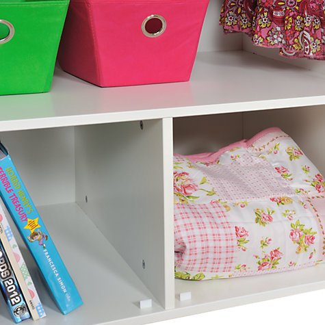 Buy Stompa Uno Plus Double Children's Wardrobe, White, H171cm Online at johnlewis.com