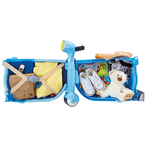 Buy Skoot Ride-On and Pull-Along Suitcase, Blue Online at johnlewis.com