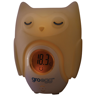 Image of Grobag Egg Baby Thermometer Shell, Orla the Owl