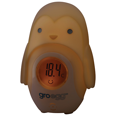Image of Grobag Egg Baby Thermometer Shell, Percy the Penguin
