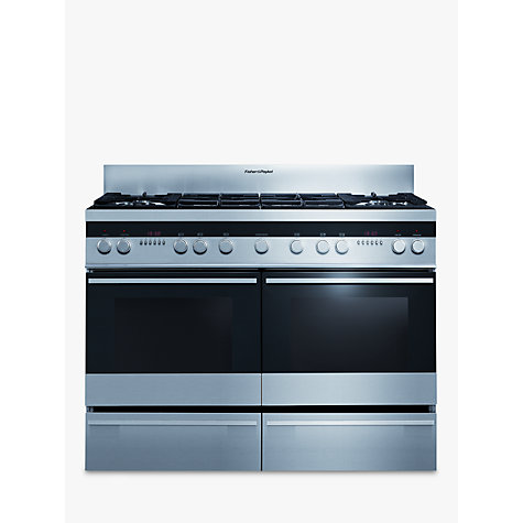 Buy Fisher & Paykel OR120DDGWX2 Dual Fuel Range Cooker, Stainless Steel Online at johnlewis.com