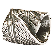 Buy Trollbeads Feather Bead, Silver Online at johnlewis.com