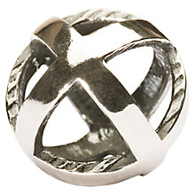 Buy Trollbeads Stay Positive Bead, Silver Online at johnlewis.com