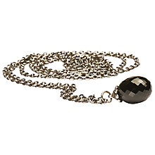 Buy Trollbeads Black Onyx Pendant Necklace, Silver / Black Online at johnlewis.com