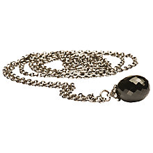 Buy Trollbeads Fantasy Black Onyx Pendant Necklace, Silver/Black Online at johnlewis.com