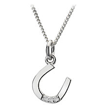 Buy Hot Diamonds Lucky Micro Pendant Necklace, Silver Online at johnlewis.com