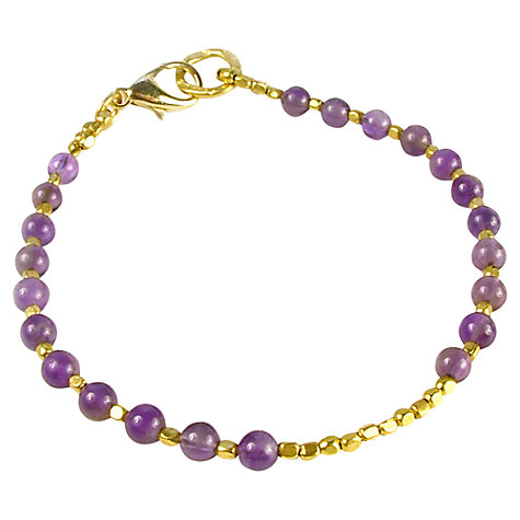 Buy Azuni Athena Beaded Bracelet, Amethyst Online at johnlewis.com