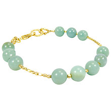 Buy Azuni Large Semi Precious Stone Beaded Bracelet, Amazonite Online at johnlewis.com