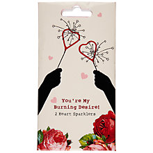 Buy Talking Tables Heart Sparklers, Pack of 2 Online at johnlewis.com