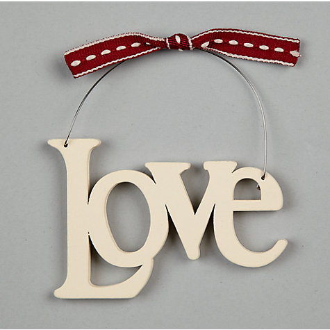 Buy East of India Love Sign, White Online at johnlewis.com