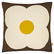 Buy Orla Kiely Abacus Cushion, Chocolate/Sunflower Online at johnlewis.com
