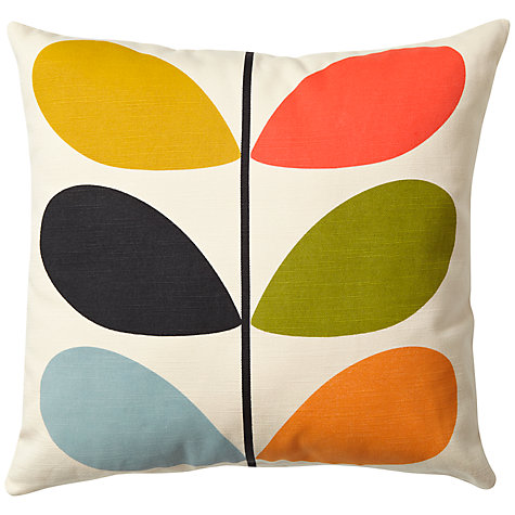 Buy Orla Kiely Linear Stem Cushion, Multi Online at johnlewis.com