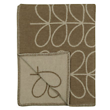 Buy Orla Kiely Linear Stem Lambswool Throw, Mushroom Online at johnlewis.com